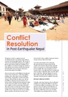Conflict Resolution: In Post-Earthquake Nepal