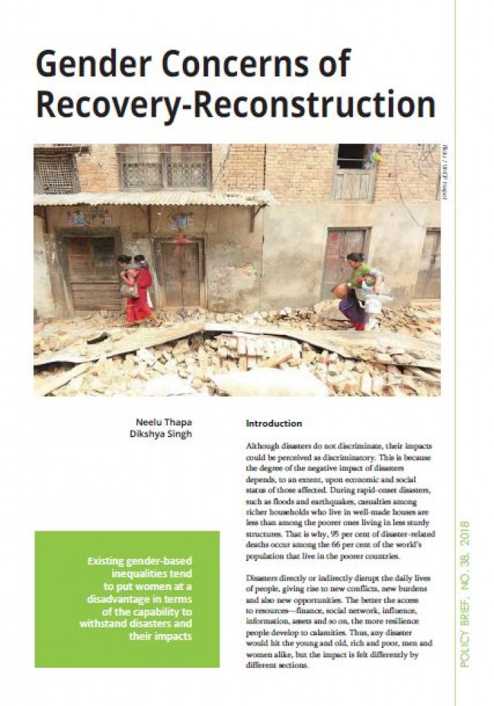 Gender Concerns of Recovery-Reconstruction