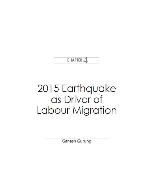 2015 Earthquake as Driver of Labour Migration