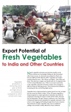 Export Potential of Fresh Vegetables to India and Other Countries