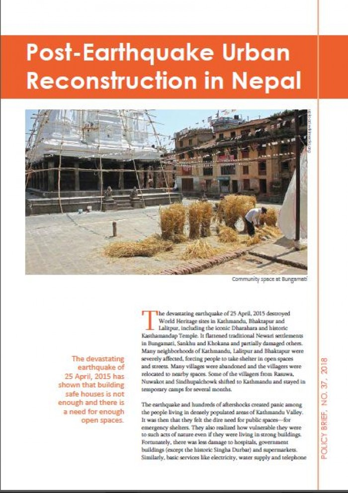 Post-Earthquake Urban Reconstruction in Nepal