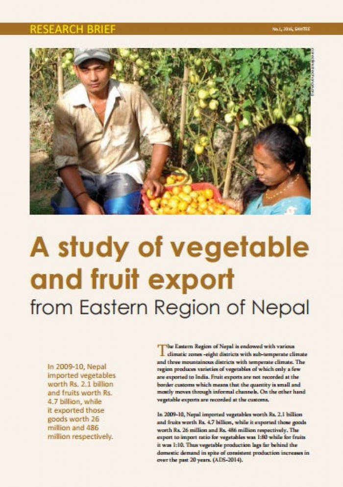 A study of vegetable and fruit export From Eastern Region of Nepal