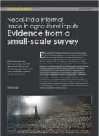 Nepal-India informal trade in agricultural inputs  Evidence from a small-scale survey