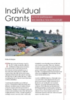 Individual Grants: In Post-Earthquake Reconstruction Expenditure