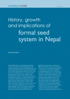 History, growth and implications of  formal seed system in Nepal