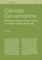 Climate Governance Working with multiple actors to combat global warming